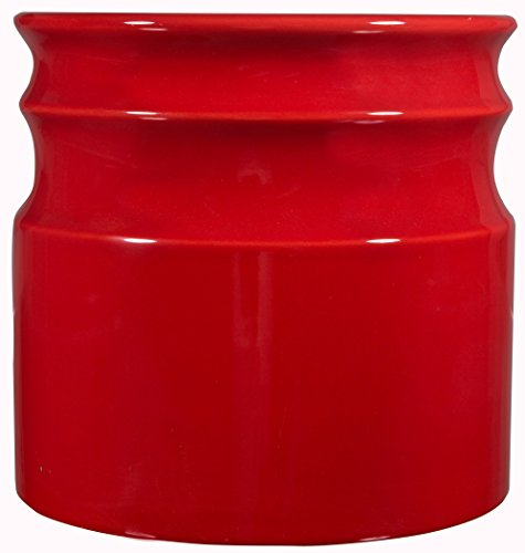 Home Essentials Beyond 66379 Turino Rings Utensil Crock 7.5 D inch , Red (Utensil Kitchen Holder Red)