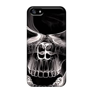 Ashburhappy2009 Perfect Tpu Cases For Iphone 5/5s/ Anti-scratch Protector Cases (3d Smoke Skull) Black Friday