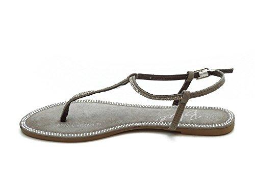 Sandali Blu Moda Donna Tripla (taglia 6-10) Taupe