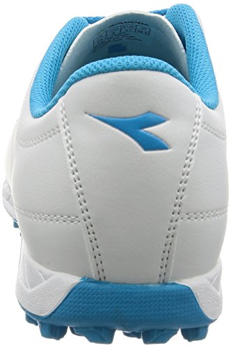 Diadora 650 Iii Tf, para los Zapatos de Entrenamiento de Fútbol para Hombre C6087 BIANCO/BLU
