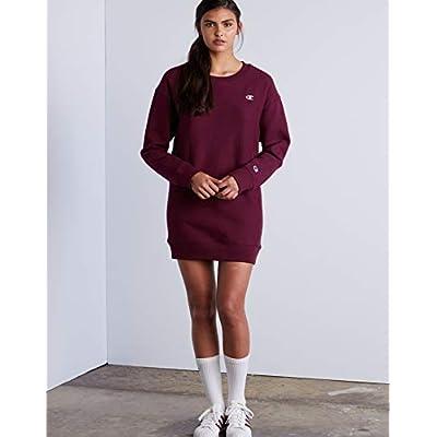 Champion LIFE Women's Reverse Weave Long Sleeve Crew Neck Dress at Women's Clothing store