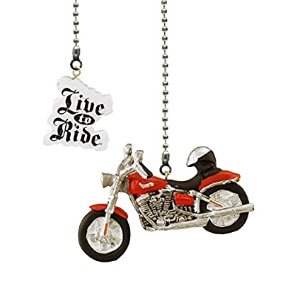 Motorcycle & Live to Ride Ceiling Fan Pull, 2 Pc. Set