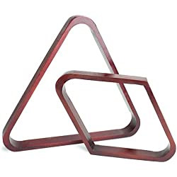 Felson Billiard Supplies Mahogany Stain Triangle and Diamond Billiard Ball Racks