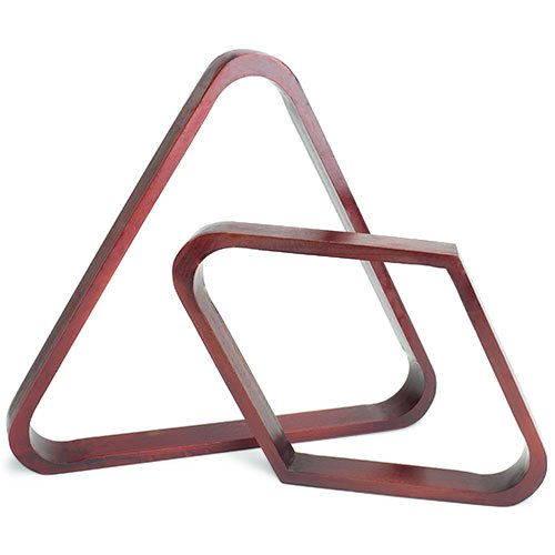 Felson Billiard Supplies Mahogany Stain Triangle and Diamond Billiard Ball Racks (Pool Table Parts Accessories)