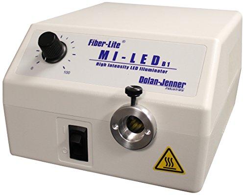 Dolan-Jenner Fiber-Lite Mi-LED-US-B1 High Power White LED Optic Illuminator, 40,000 Hours LED Life, 15 mm Fiber Input Diameter, 8.8