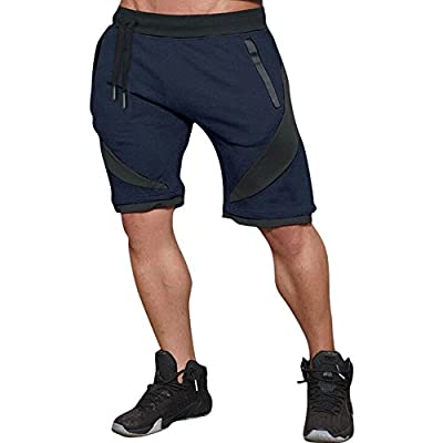 Mechaneer Men's Gym Active Fitted Bodbuilding Workout Shorts