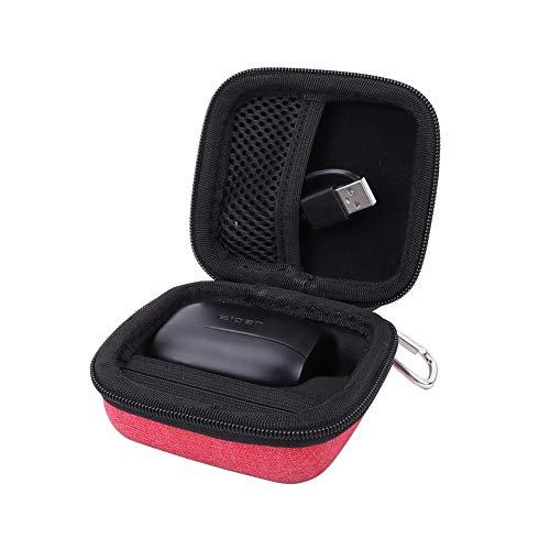 Hard Case for the Jabra Elite Active 65t | Jabra Elite 65t True Wireless Earphone/Headphone by Aenllosi (red)