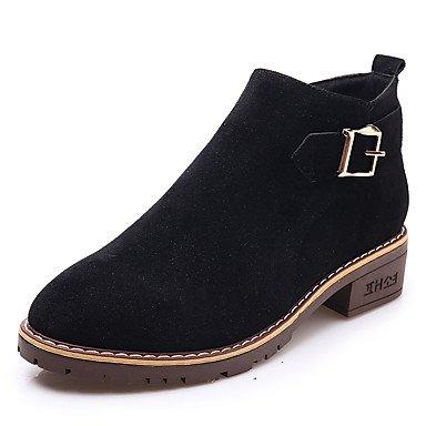 Botas Media botas botas Caña de desy para Invierno marrón negro de ante mujer zapatillas Casual tobillo negro Otoño Botas vPO7Pwn