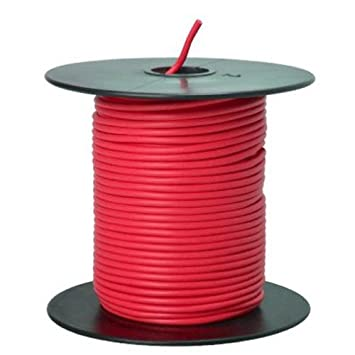 Southwire 55667423 Primary Wire, 18-Gauge Bulk Spool, 100-Feet, Red ...
