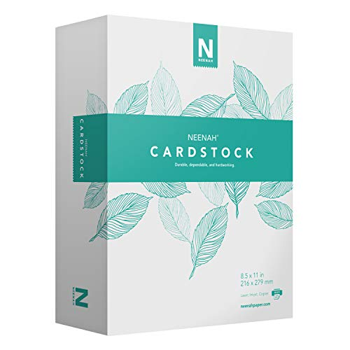 Cardstock 90 Index Lb - Neenah Cardstock - Mediumweight, 90 lb/243 gsm Index, 94 Brightness, 8 ½ x 11, 365 Ct. - MORE SHEETS! (91634)