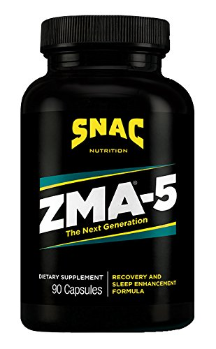 SNAC ZMA 5 With 5 HTP Recovery and Sleep Enhancement Formula, 90 Capsules