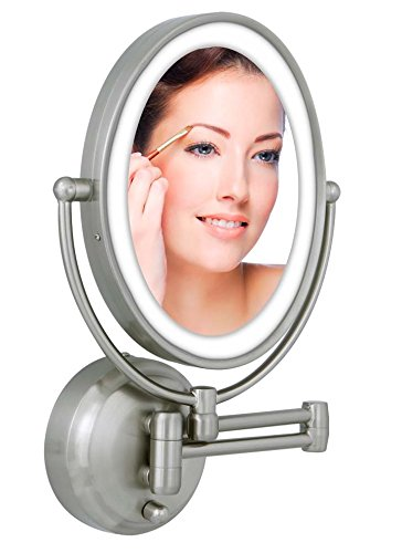 Zadro 10X/1X Next Generation LED Lighted Oval Wall Mount Mirror, Satin Nickel by Zadro (Image #2)