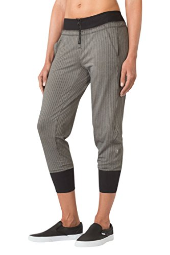 MPG Julianne Hough Women's Simpatico Cropped Jogger S Black Stripe