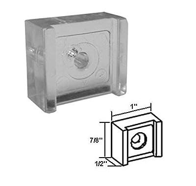 Sliding Shower Door Clear Acrylic Finger Pull - Pack of 2