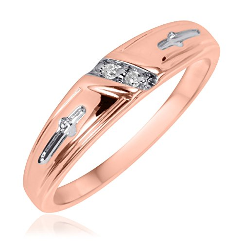 1/25 CT. T.W. Diamond Ladies' Wedding Ring 10K Rose Gold- Size