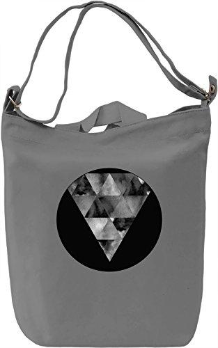 Black and White Triangle Borsa Giornaliera Canvas Canvas Day Bag  100% Premium Cotton Canvas  DTG Printing 