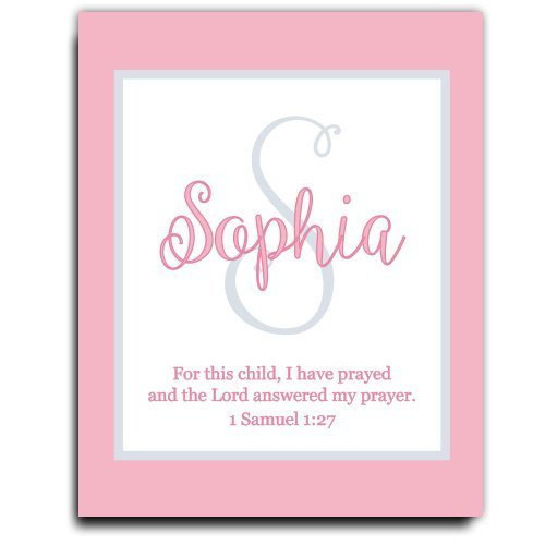 Girls Bible Verse Paper Art Print | Girl Monogram | Baby Girl Gift | Personalized Baptism Gift | Christening Gift | Religious Gift | Christening Present | Baptism Present | First Communion