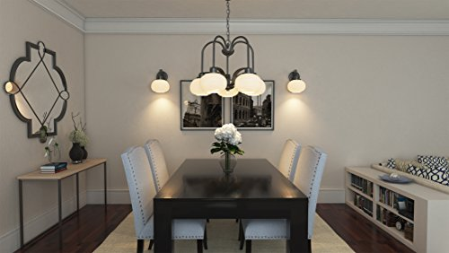 Amazon.com: Quoizel LWS2999D Tribeca Hanging Dining Room Chandelier  Lighting, Glass Shades, 5 Light 500watts, Ol: Home Improvement