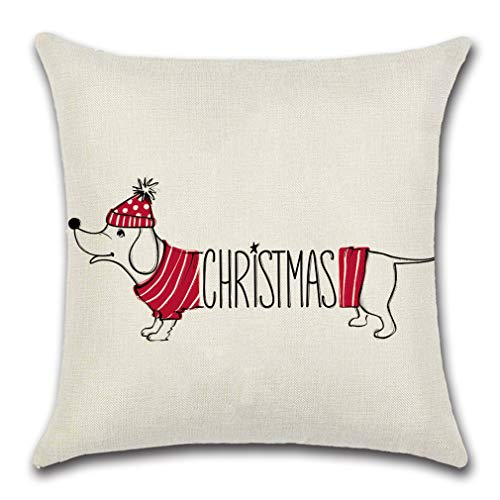 SZOLNO Soft Plush Throw Pillow Case Printed Christmas Festive XMAS Design Decorative Cushion Covers Lumbar Pillowcase…