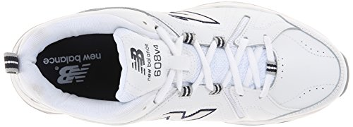 New Balance Womens WX608V4 Training Shoe,White/Light Blue,10.5 B US White/navy