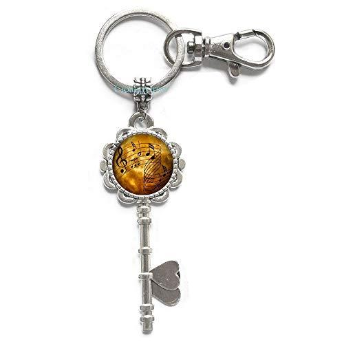 Cioaqpyirow Sheet Music Key Keychain Musicians Jewelry Music Notes Art Key Ring,Music Student Gift,Piano Music,Photo Image -