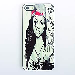 LIMME- Hardcore Design Girl Pattern Metal Hard Case for iPhone 4/4S