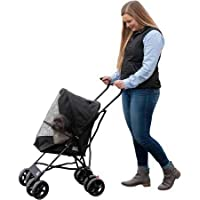 "Pet Gear Ultra Lite Travel Stroller, Compact, Large Wheels, Lightweight, 38"" Tall"