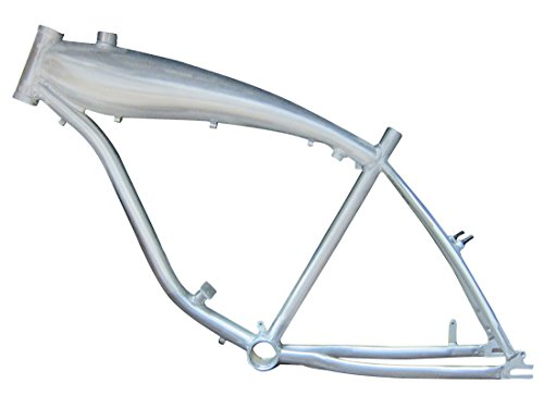 """BBR Tuning 26"""" Inch Motorized Bicycle Frame with Built In 2.4L Gas Tank – Gas Bike Frame Built In Motor Mount (Silver)"""