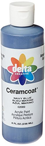 Delta Creative Ceramcoat Acrylic Paint in Assorted Colors (8 oz), 020898, Navy Blue