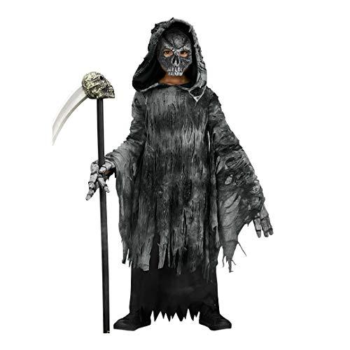 CHASING FIREFLIES Grim Reaper Costume For Boys (Includes Skull Mask & Skeleton Hands & Scythe) ()