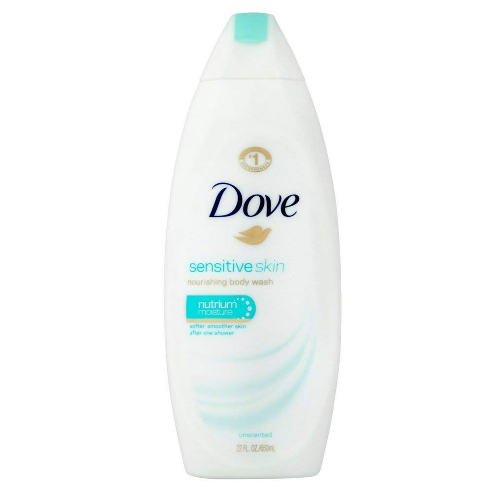 Dove Body Wash Sensitive Skin Unscented 22 Ounce (650ml) (2 Pack)