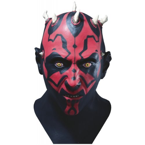 Star Wars Darth Maul Adult Latex Mask,Black,One -