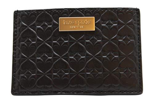 Embossed Card Case - Kate Spade New York  Graham Embossed Wallet Business Card Holder Credit Card Case Black ,Small