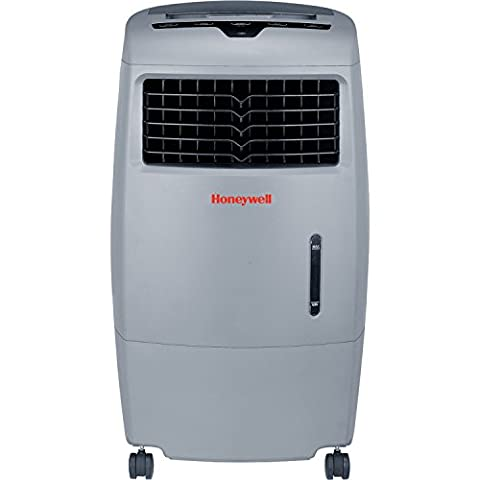 Honeywell 500 CFM Indoor/Outdoor Evaporative Air Cooler (Swamp Cooler) with Remote Control in Gray (Evaporative Cooler Portable)