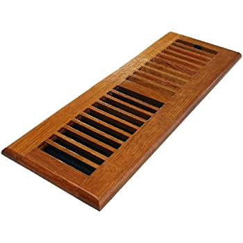Decor grates wlc414 n 4 inch by 14 inch wood floor for Wood floor registers 6 x 14