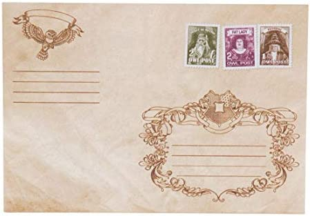 getDigital Sobres de correo por lechuza - juego de 10 sobres de correo para enviar postales o invitaciones - con lacrado a cera y sellos: Amazon.es: Hogar