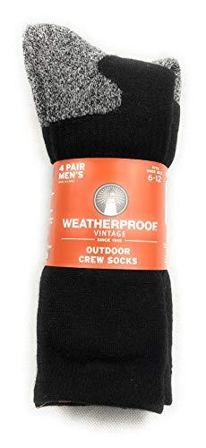 Weatherproof Vintage Outdoor Crew Socks, 4 Pair Men