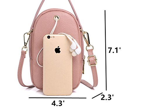 Galaxy Pink Zg Real Fits S7 Phone Leather IPhone for Small Layer Samsung 3 and 6S Crossbody Crossbody Plus S8 7 Pearl 6 for 8 Purse Purse Women Edge Cell qHqf4rx