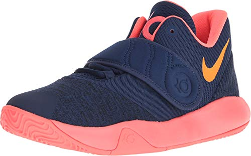 Nike Boy's KD Trey 5 VI Basketball Shoe Blue Void/Orange Peel/Flash Crimson Size 5 M US