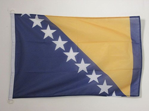 AZ FLAG Bosnia and Herzegovina Flag 2' x 3' for Outdoor - Bosnian Herzegovinian Flags 90 x 60 cm - Banner 2x3 ft Knitted Polyester with Rings ()