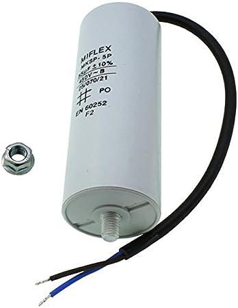 Condensateur de démarrage 25uf-450v avec cable de 25cm