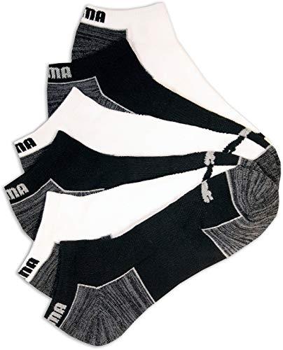 Puma Mens 6-pk. Colorblock Space Dye Low Cut Socks 10-13 White/black/grey