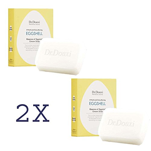 2x DR.DOUXI Essence of Eggshell Cream Moisturizing Face Washing Soap Bar