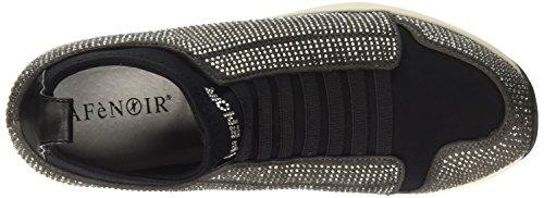 CafèNoir LDA932016360, Sneaker a Collo Alto Donna, Grigio, 36 EU