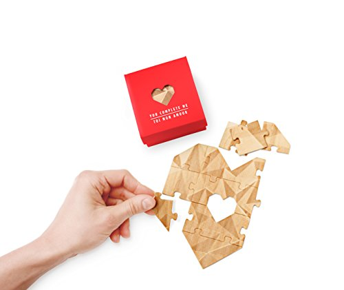 Red Heart Card (Valentine's Day Greeting Card Jigsaw Puzzle Heart shaped, Red)