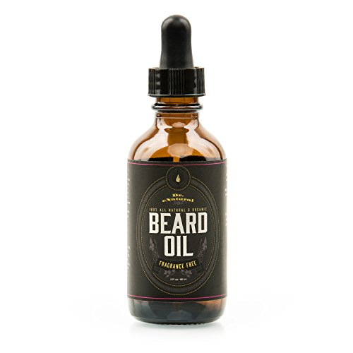Beard Oil - Nourishing, Organic Plant-Derived Oils For Beard & Mustache Hair Growth - Leave-In Conditioner & Moisturizer - Against Itchy Skin, Beard Dandruff & Acne - Paraben Free & (Beard With Goatee)