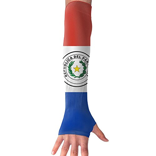LAPAD7 Flag Of Paraguay Arm Sleeve Cooling Arm Compression Outdoor Cycling Bicycle Arm Long Sleeve For Adults Kids Youth (Paraguay National Soccer Team)