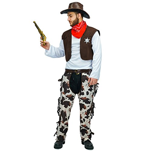 flatwhite Adult Cowboy Costumes For Man and Women (Men)