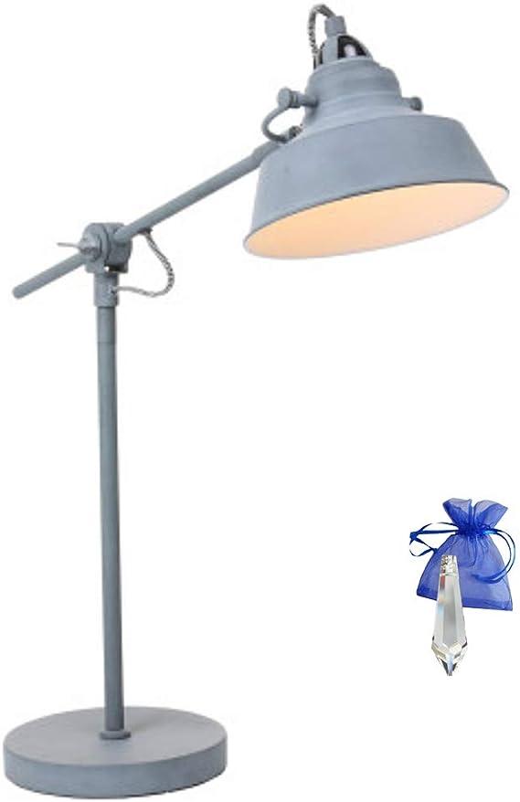 Tischlampe schwarz Nachttischlampe Bürolampe Industrial-Lampe Tischleuchte E27