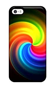 New Cute Funny Nice Rainbow Circle Case Cover Iphone 4/4s Case Cover